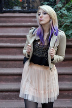 Kimberly Grace . - H&M Beaded Tank, Forever 21 Jacket, Kimchi And Blue Tulle Skirt - I'll be the foolish one