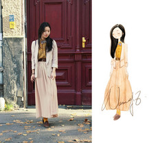 Nancy Zhang - American Apparel Skirt, Topshop Blazer - Sunday Afternoon In Your Street