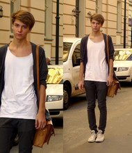 Krystian Kawecki - H&M Grey Cardigan, H&M Grey Pants, Converse Beige Sneakers - I Gave You All . .