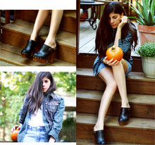 Erika Marie - Jeffery Campbell Clogs, Guess? Vest, Abercrombie And Fitch Shirt, Bongo Skirt - Halloween is about Pumpkins and Candy
