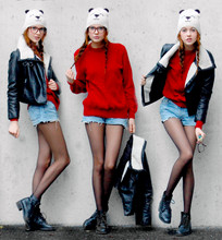 Ebba Zingmark - 2hand Shorts, H&M Jacket - Hey Mr Panda!