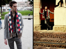 Gale PlusG - William Rast Trausers, Xpress Chuck Bass Scarf, Nara Camicie Shirt, Zara Jacket - What a nice Scarf!Chuck Bass