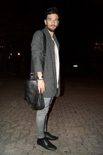 Alfredo Laurino - All Saints T Shirt Basic, H&M Cardigan, H&M Bag, April 77 Skinny, Asos Lace Ups - Blackjack