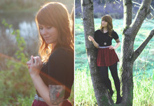 Breanna Leigh Harmony - Urban Outfitters Maroon Shirt, Target Black 3/4 Sleeve Shirt, Goodwill Cowboy Tie - As winter comes