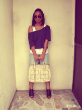Micaela V. - Ray Ban Aviator, Random Cropped Top, Zara Basic Tank Top, Topshop Diy Cropped Pants, Bootie - UNANIMOUS