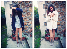 Clara S. - H&M Vest, Zara Tee Shirt, Zara Velvet Pant, New Look Boots, Zara Coat - Woman on the moon