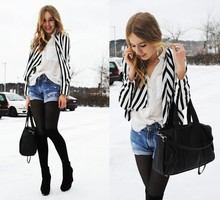 Frida Johnson - H&M Jacket, Shoes - STRIPES IN THE SNOW STORM