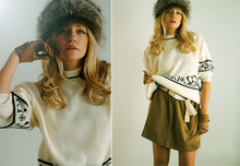 Michele C. - Vintage Ski Sweater, Vintage Gloves, American Vintage Skirt - Chalet Dreaming;) on une americaine blog spot