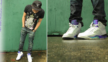 Chad C.F - Raiders Snapback, Rvca Shirt, Edwin Jeans, Jordan Grape V - Grapes?