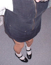 Rosario Smith -  - The same black jumper with white socks and black shoes