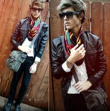 Adam Gallagher - Dita Eyewear, Versace Scarf, H&M Messenger - Psychic Chasms