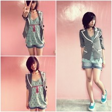Tippy Cruz - Forever 21 Tunic, Luux Pink Satin, Mossimo Denim, Vans Snickers - Summer Be Prepared