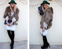 Michele C. - Vintage Hat, Vintage Dress, Vintage Bag, Zara Shoes - WhEre the WiLd thIngs Are...uneamericaine blogspot
