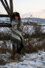 Any R - Ff Jumper, H&M Faux Fur Hat, Promod Boots - Winter sunset