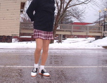 Rosario Smith - Willits Saddle Shoes, Hanes Stockings, Unknown Bobby Socks, 725 Skirt - School Girl Look