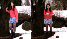Hayley W - Forever 21 Sweater, Forever 21 Floral Skirt, Charlotte Russe Black Boots - The Heart is a Bloom