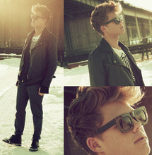 Andreas Wijk - Lanvin Sunglasses, Dr. Martens Shoes, Jacket - Sunny day,