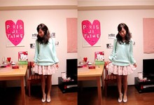 Mari O. - Banner Barret Icy Mint Knit, Cos Frilled Skirt - Happy belated new year