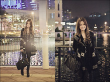 Tricia Gosingtian - From Singapore Dress, Forever 21 Oversized Knit Cardigan, Aldo Over The Knee Boots, M)Phosis Bag, From Singapore Cross Necklace - 010911