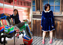 Prutha Raithatha - Topshop Velvet Dress, Irregular Choices Shoes - Merry- go- Round and Round and Round!!