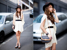 Marcella L - Asos Dress, Jessica Simpson Heels, Christian Dior Bag - Cape dress