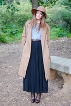 Zina CH - Zara Coat, H&M Skirt - The Camel Coat