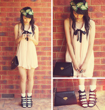 Connie Cao - Kani Hair Wreath, Clubcouture Swing Dress, Vintage Bag, Asos Wedges - M y   f a i r y   d r e s s