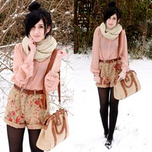 Bonnie Barton - Thrifted Shorts, Thrifted Top, Pins & Needles Bag - First Real Snow
