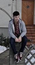 Sebastian Strasser - H&M Grey Vest, Cheap Monday Skinny Jean - When the walls decide to close in.