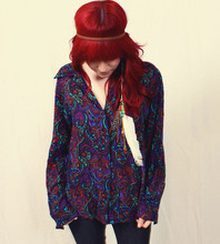 Monika ! - Vintage Paisley Shirt - Vintage Warrior