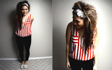 Bethany Olson - Grace Like Rain Headband, Solemio Nautical Top, Thrift Store Sailor Shoes - Nautical GLR.