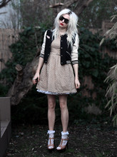 Eszter F. - Lanvin Sunnies, Topshop Jacket, Topshop Dress, Leg Avenue Lace Socks, Topshop Shoesies - I am doll parts, big veins, dog bait