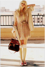 Coury Combs - Darling Dress, Vintage Sweater, Steven Shoes, Vintage Bag - Everything will bring a chain of love.