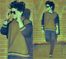 Eduardo Ferreira - Zara Sunglasses, My Dad's Sweater, Skinny Skinny Thing, Vans - Calm down