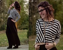 Séverine C - H&M Skirt, H&M Shirt, New Look Shoes - Stripes and chains