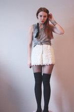 Felicia Hansson - Second Hand Vest, Topshop Shorts, Lindex Over Knee Socks - How long can you keep a secret from yourself,
