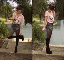 Claire Mcmanus - Topshop Denim Hotpants, Betts Suede Wedges - A dream is a wish your heart makes