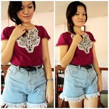 Chantal Jane - Peasant Top, 70's Shorts, Forever 21 Belt - Empty Soul