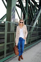 Anna K. - Zara Trenchcoat, Topshop Leigh Jeans, Asos Chelsea Boots, Fashionology Necklaces - Hi I'm Anna and I'm an addict!!!