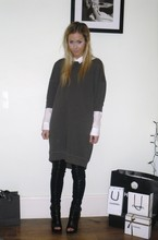 Daniella Robins - Acne Studios Sweatshirt Dress, White Shirt - The Other Kind