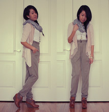 Hilary E - Aryn K. Layered Cardigan, Wilfred Harem Pants, H&M Wedge Booties - NOWHERE TO GO BUT ON