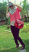 Ili Baharin - Zara Gray, Unbrand Red, Nichi Black, Cotton On Pink, Topshop Skinny - How Do I Look??