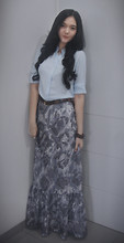 Lady lisa A - Own Design Maxi Skirt - Grey