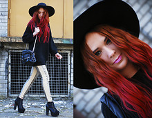 Kate Pe. - Pants, Sweater, Jeffrey Campbell Lita Fur In Black - These pants are made for wearing! Click to see more pix:)!