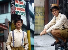 Marky Garcia - Tie Line Long Sleeves, Self Made Old School Uniform, Lonely Planet Fedora Hat - Pinocchio Style
