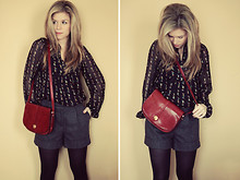 Kelly Hicks - Savers Thrifted Blouse, Fist City Vintage Purse, H&M Trouser Shorts, Walmart Tights - CANDY WRAPPERS