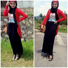 Ili Baharin - Topshop Black, Dorothy Perkins Red, Topshop Hazel - Make me wonder
