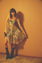 Molly Madness - Free People Dress, Vintage Ropers, American Apparel Lacy Bike Shorts - The Art of Shadows
