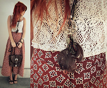 Lua P - Vintage Crochet Top, Forever 21 Necklaces, Vintage Skirt - Marching through the Wilderness