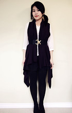 Emilia J - Ebay Cape, Vintage Silk Blouse, H&M Belt - If I were a pirate